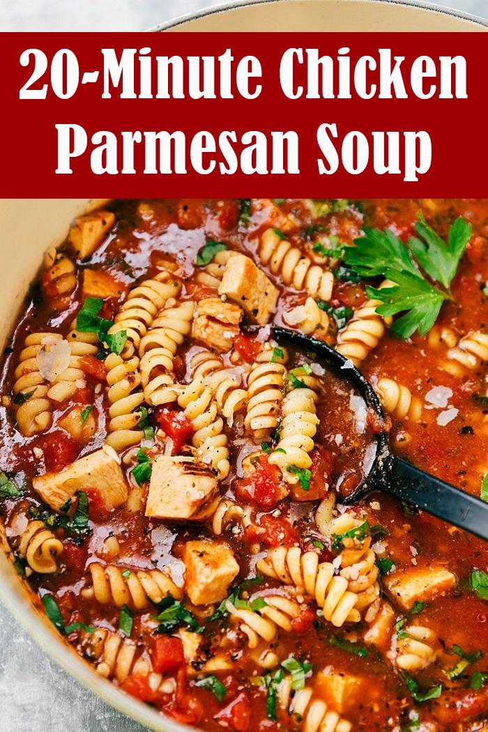 20-Minute Chicken Parmesan Soup