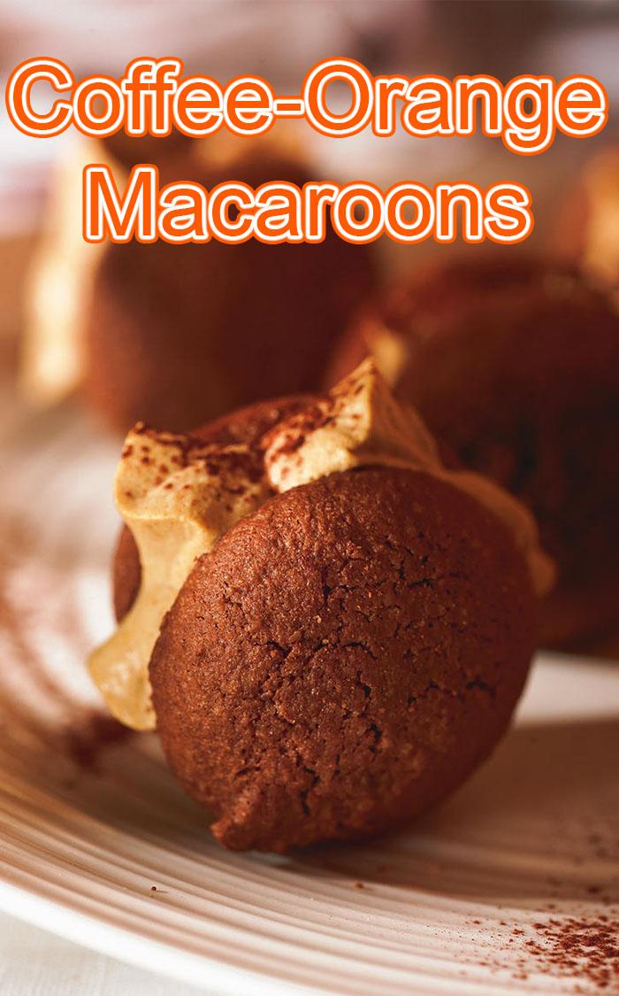 Coffee-Orange Macaroons
