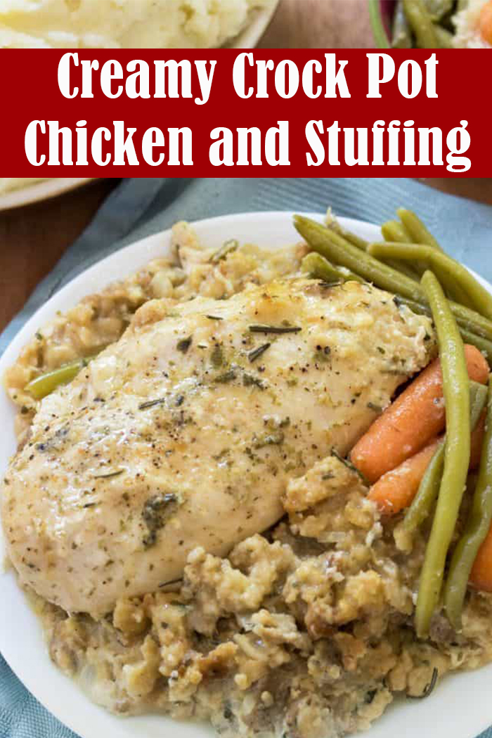 Creamy Crock Pot Chicken and Stuffing Recipe