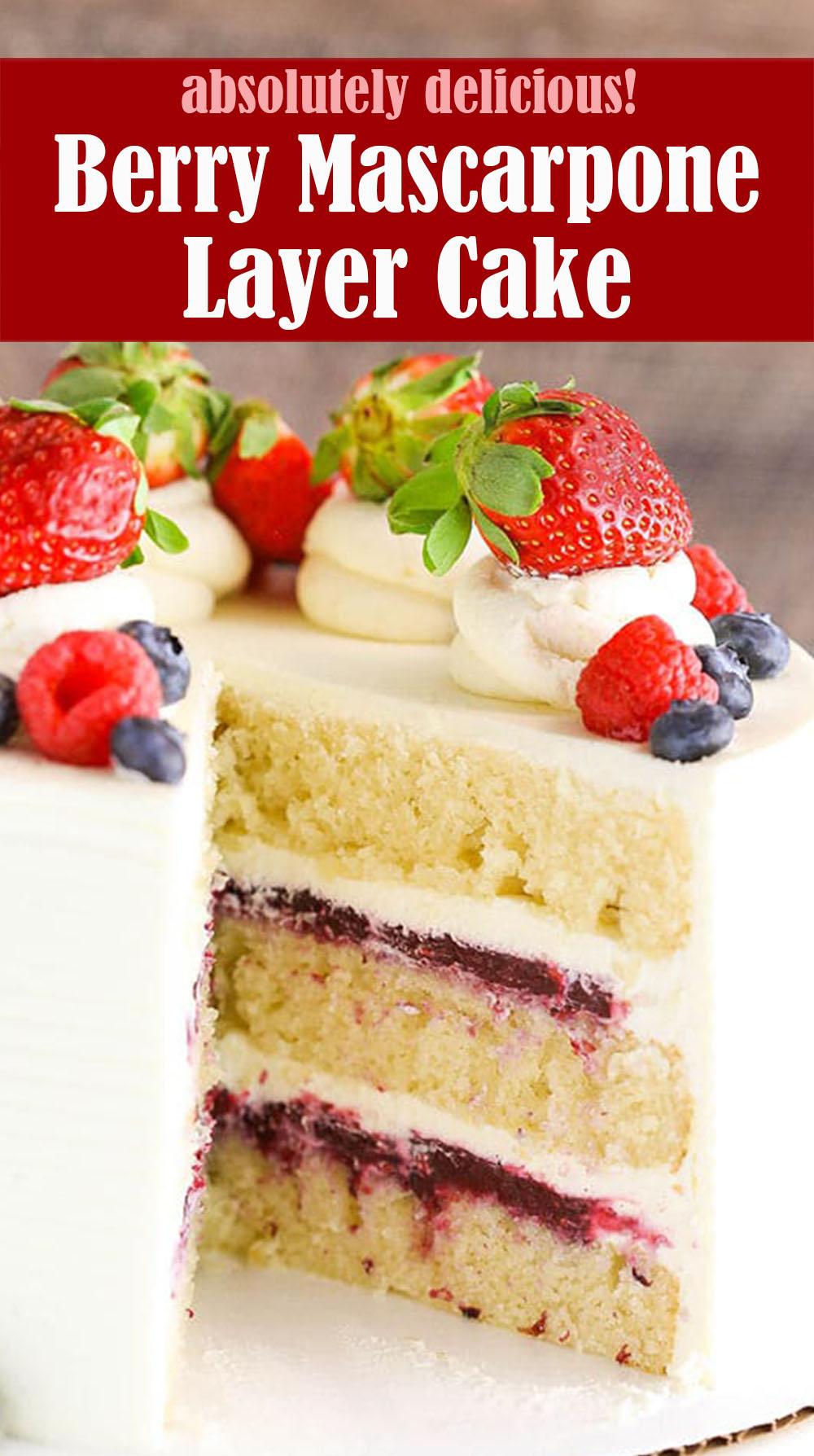 Delicious Berry Mascarpone Layer Cake