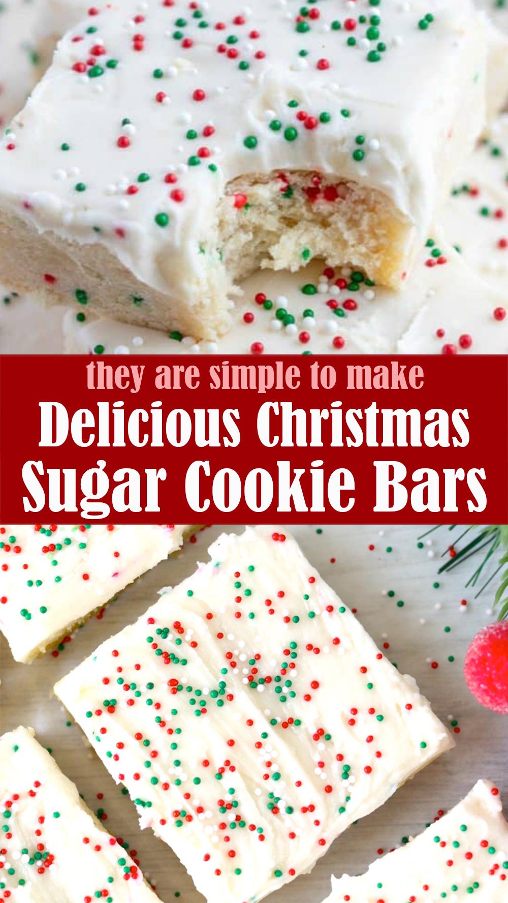 Delicious Christmas Sugar Cookie Bars