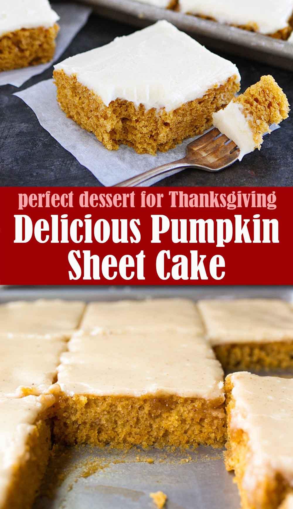 Delicious Pumpkin Sheet Cake