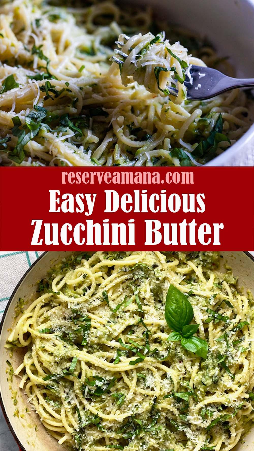 Delicious Zucchini Butter Spaghetti