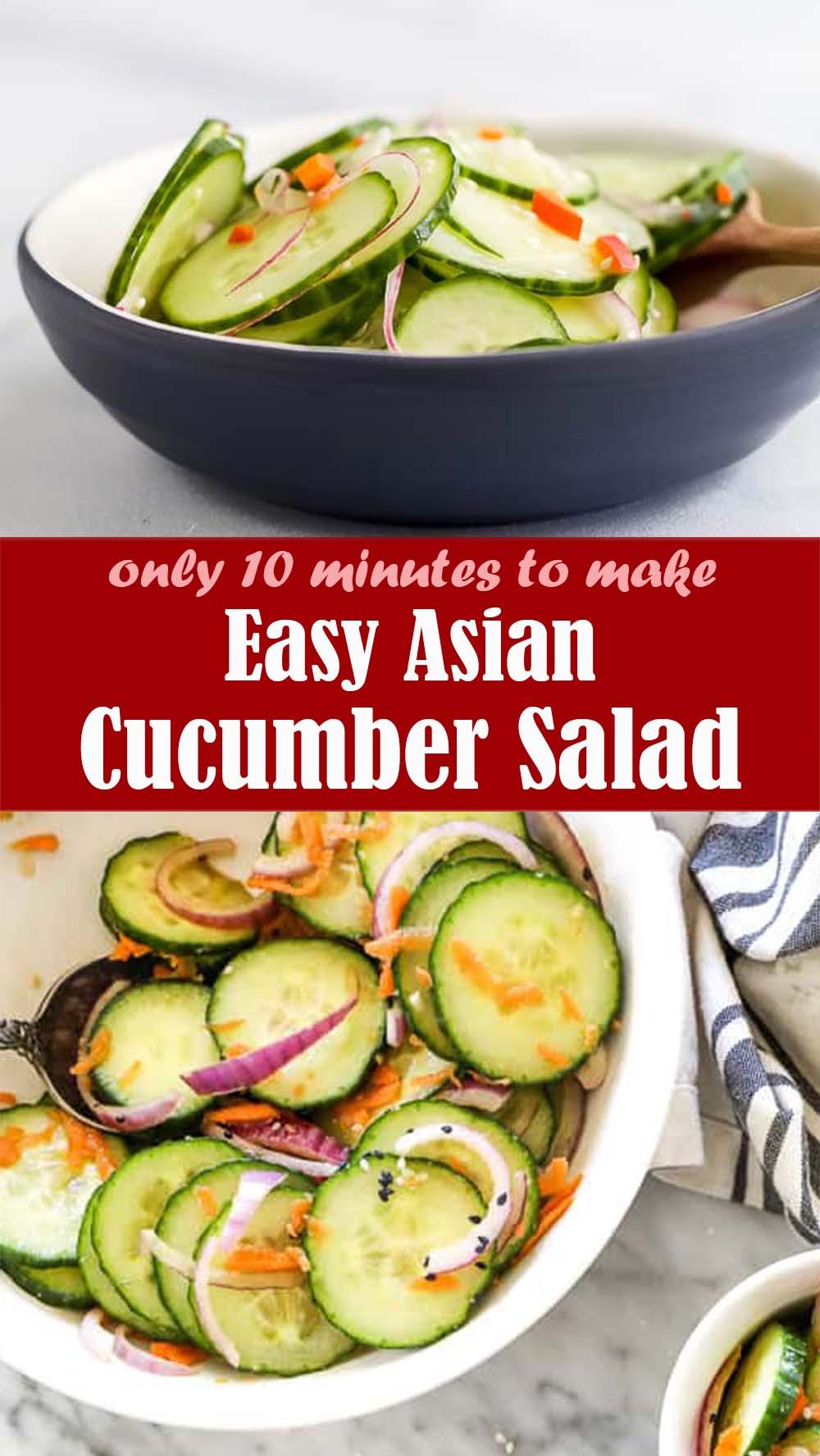 Easy Asian Cucumber Salad Recipe
