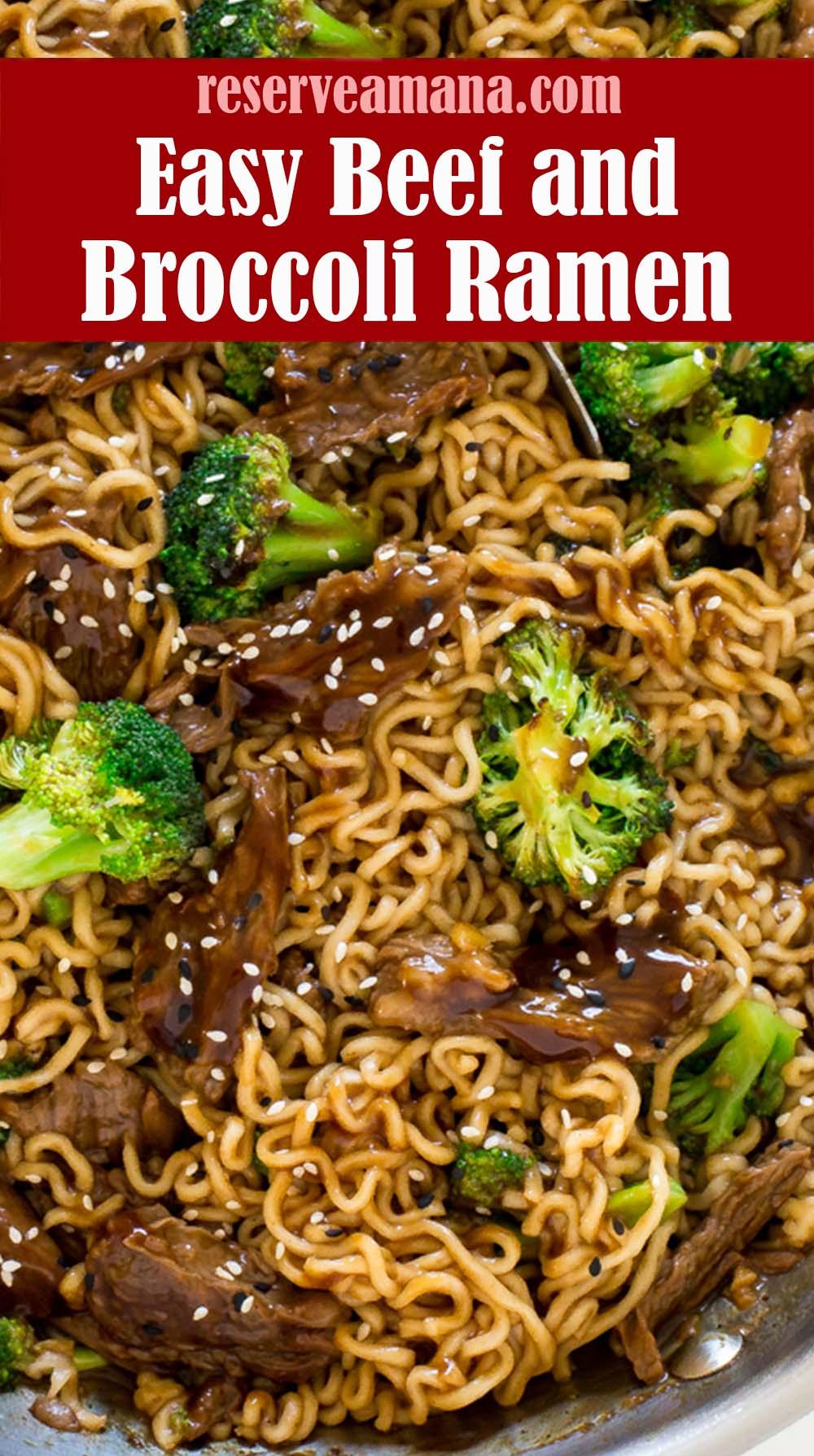 Easy Beef and Broccoli Ramen