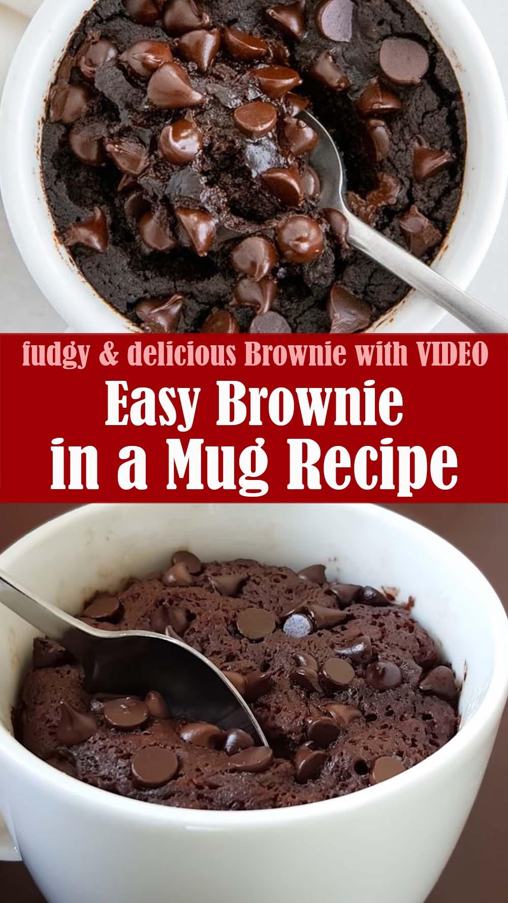 Easy Brownie in a Mug Recipe