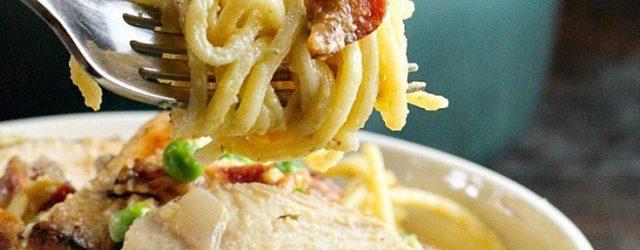 Easy Chicken Carbonara Pasta