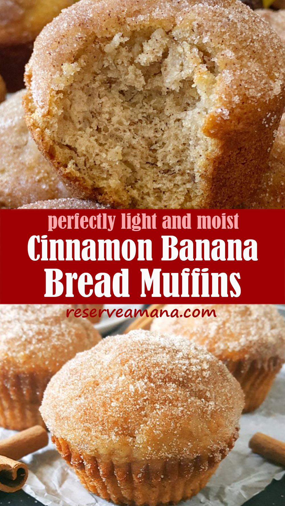 Easy Cinnamon Banana Bread Muffins
