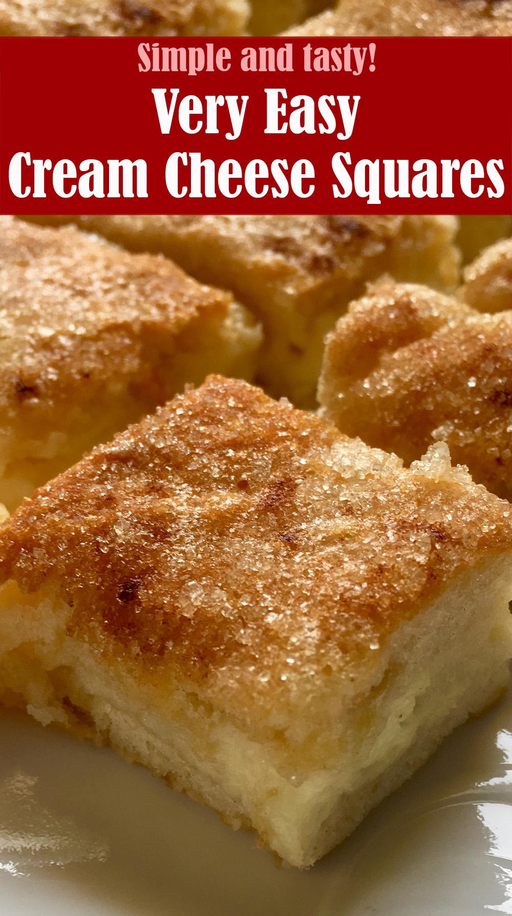 Easy Cream Cheese Squares