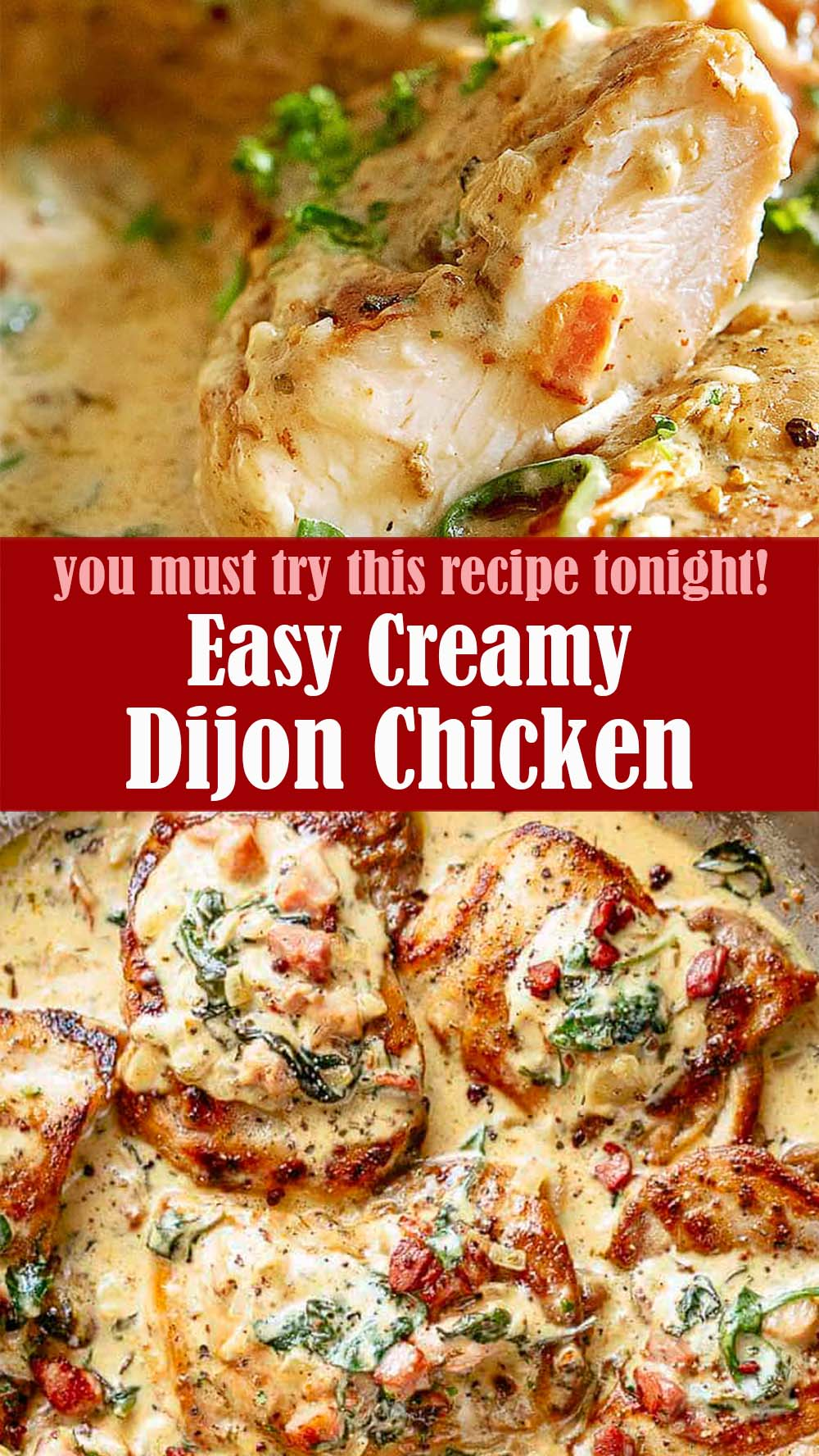 Easy Creamy Dijon Chicken Recipe