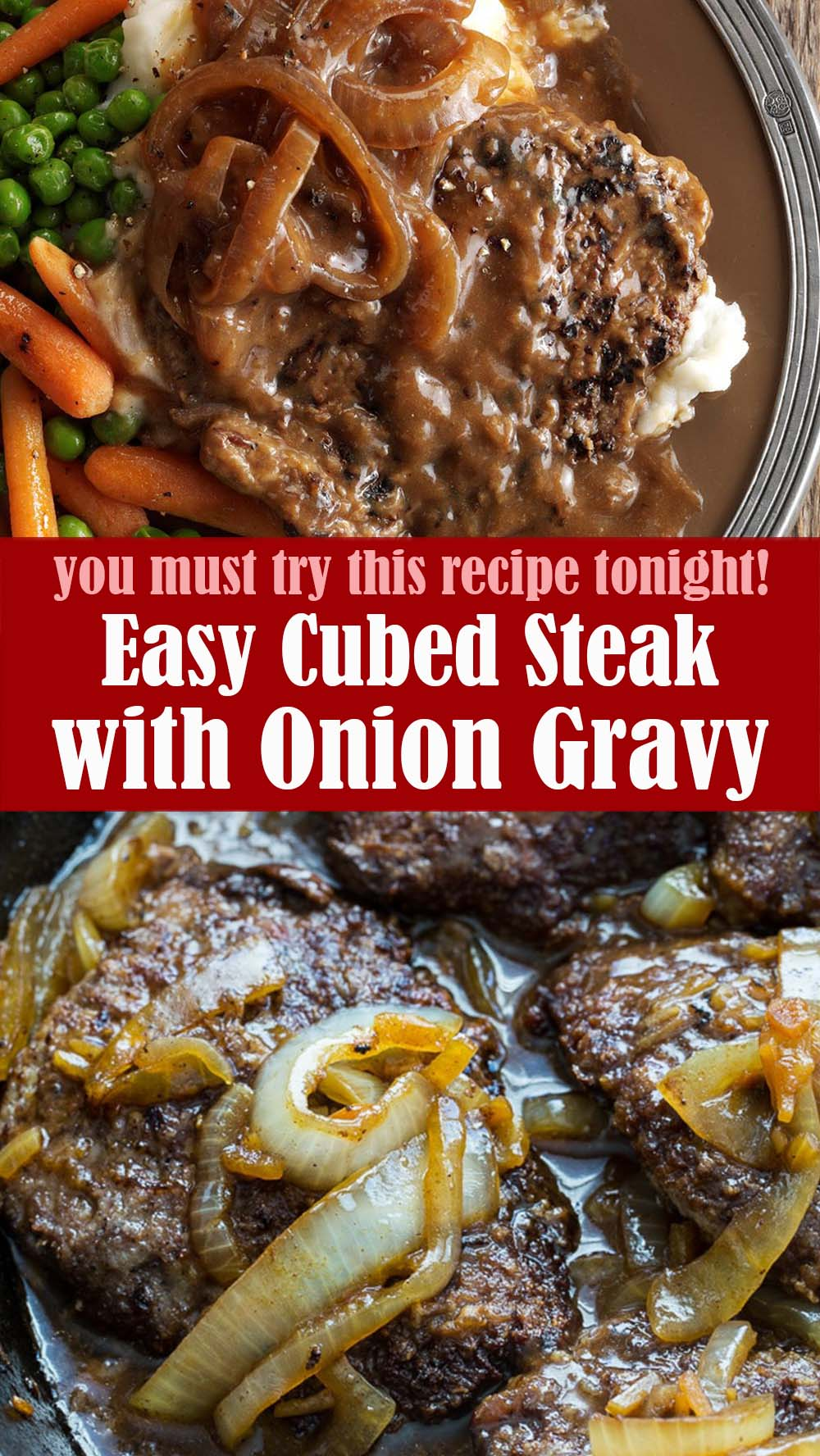 Easy Cubed Steak with Onion Gravy