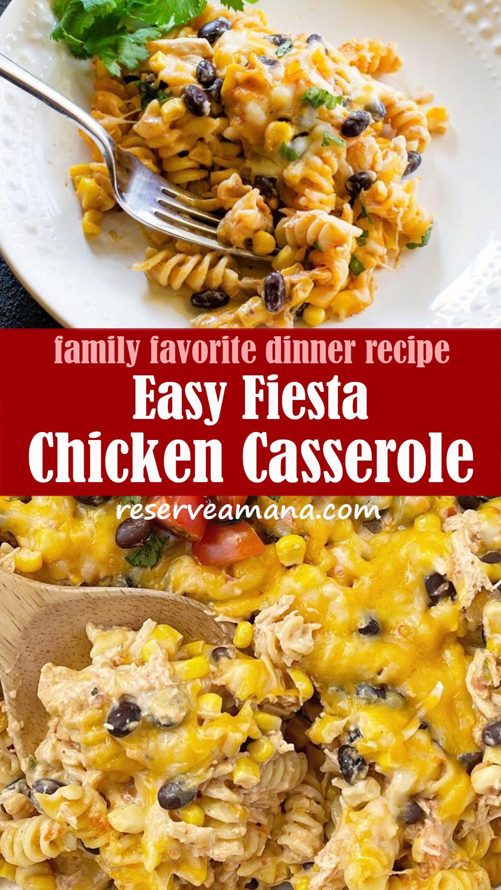Easy Fiesta Chicken Casserole