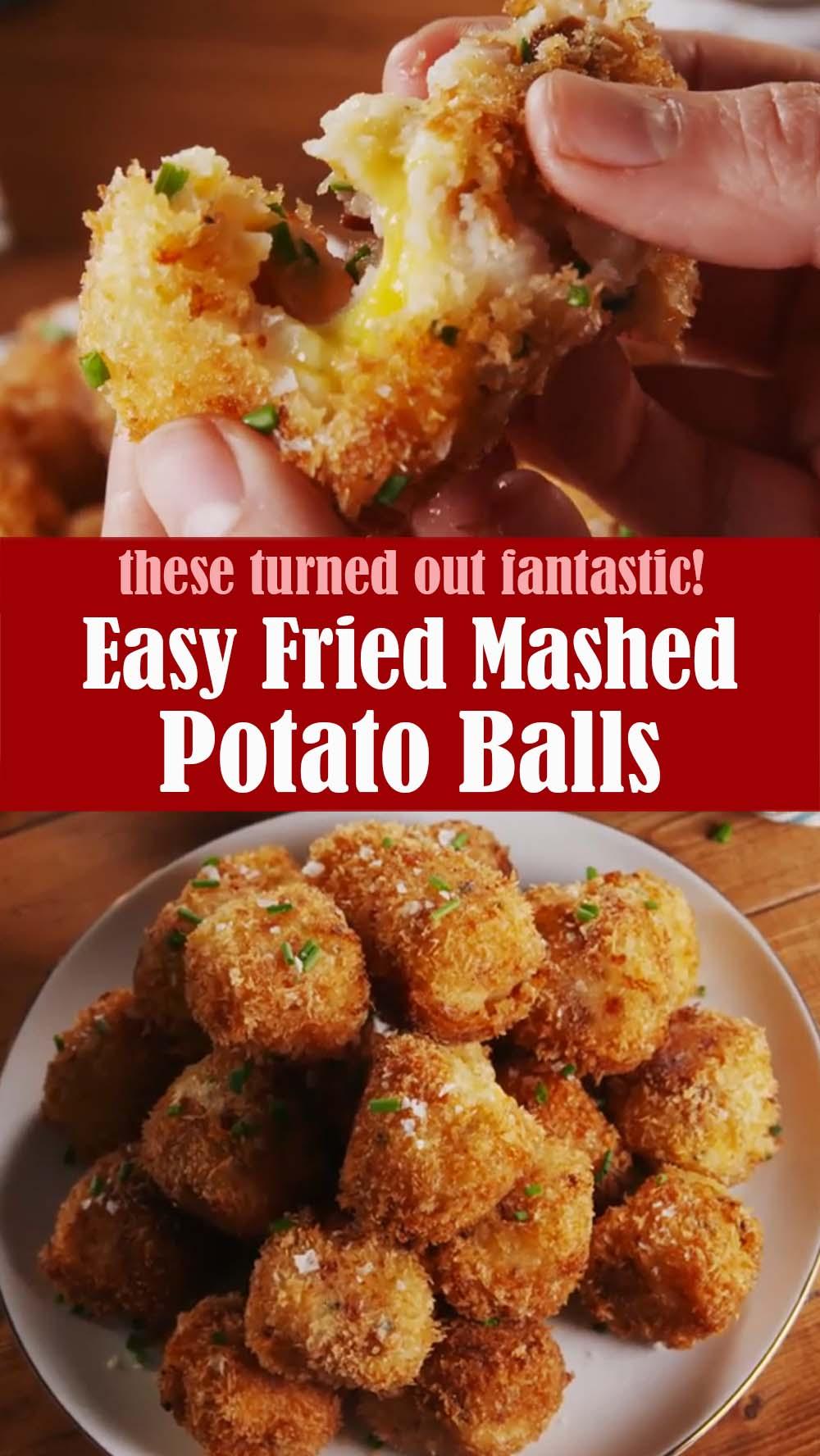 Easy Fried Mashed Potato Balls