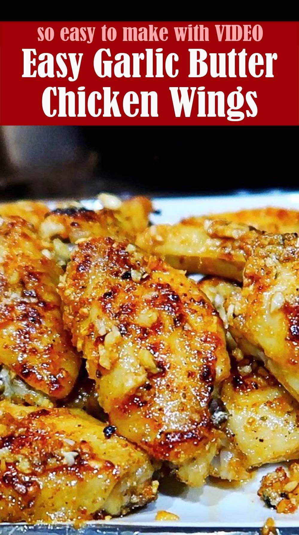 Easy Garlic Butter Chicken Wings