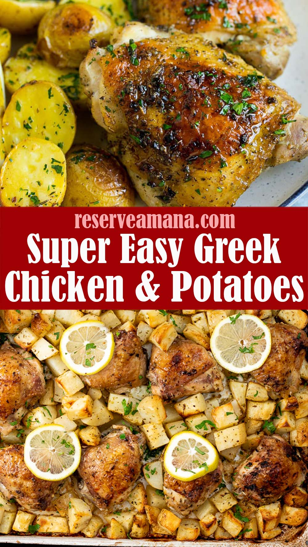 Easy Greek Chicken and Potatoes