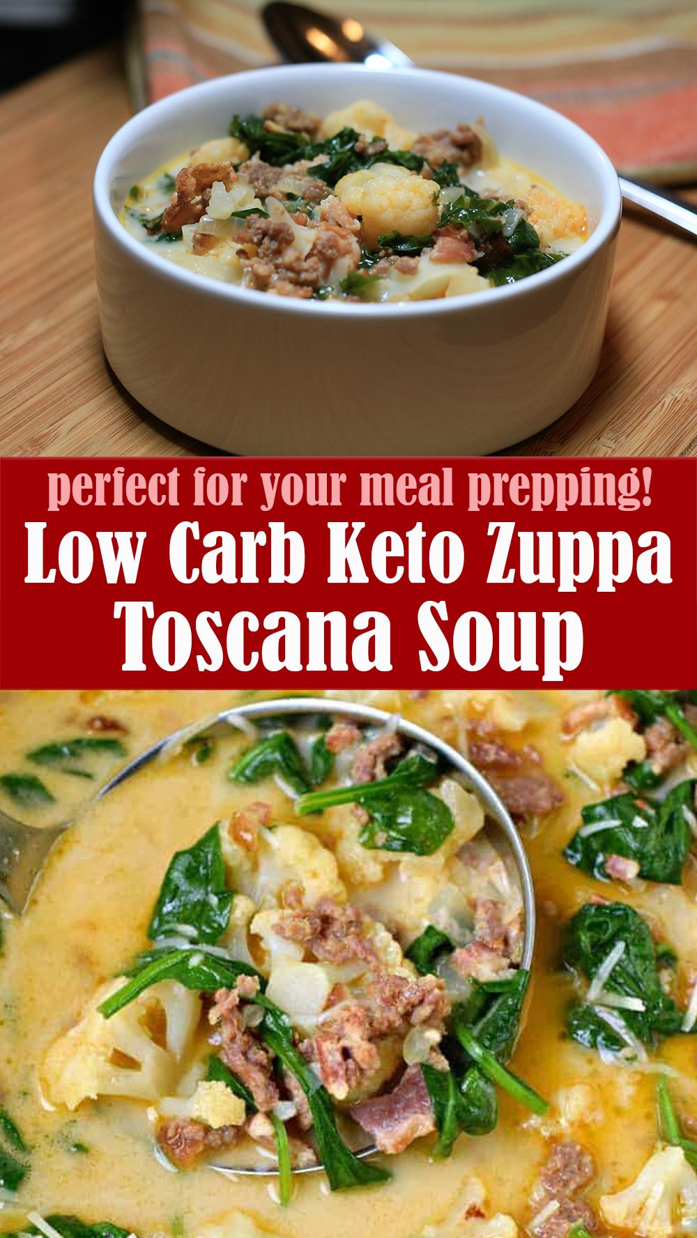 Easy Low Carb Keto Zuppa Toscana Soup Recipe