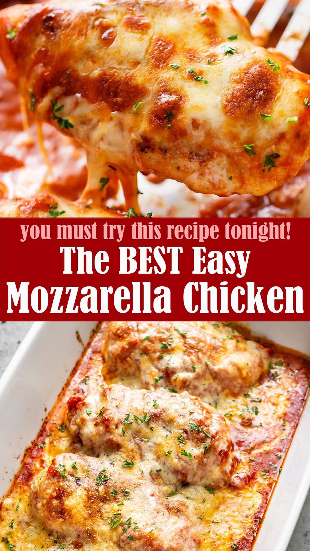 Easy Mozzarella Chicken Recipe