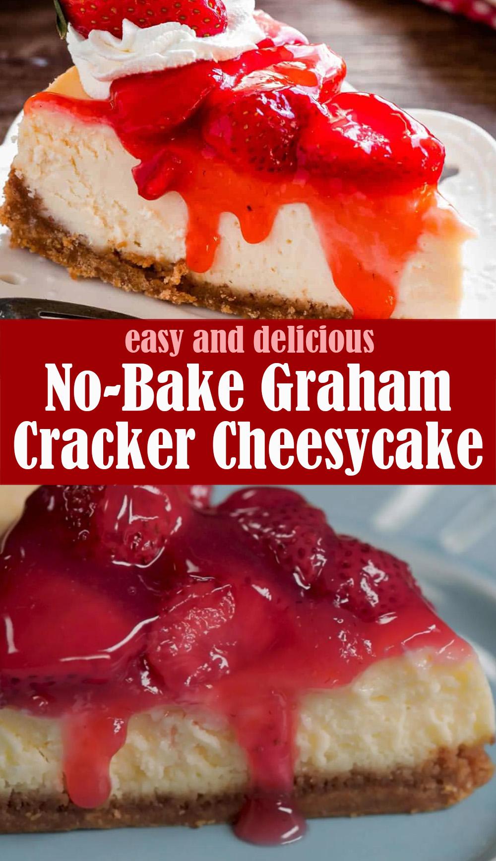 Easy No-Bake Graham Cracker Cheesycake