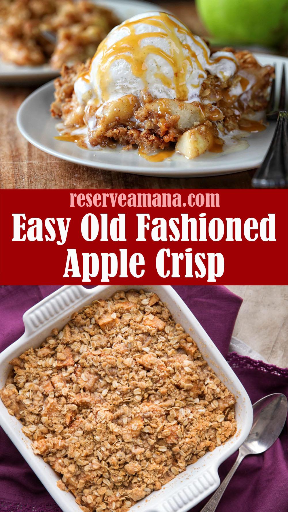 Easy Old Fashioned Apple Crisp