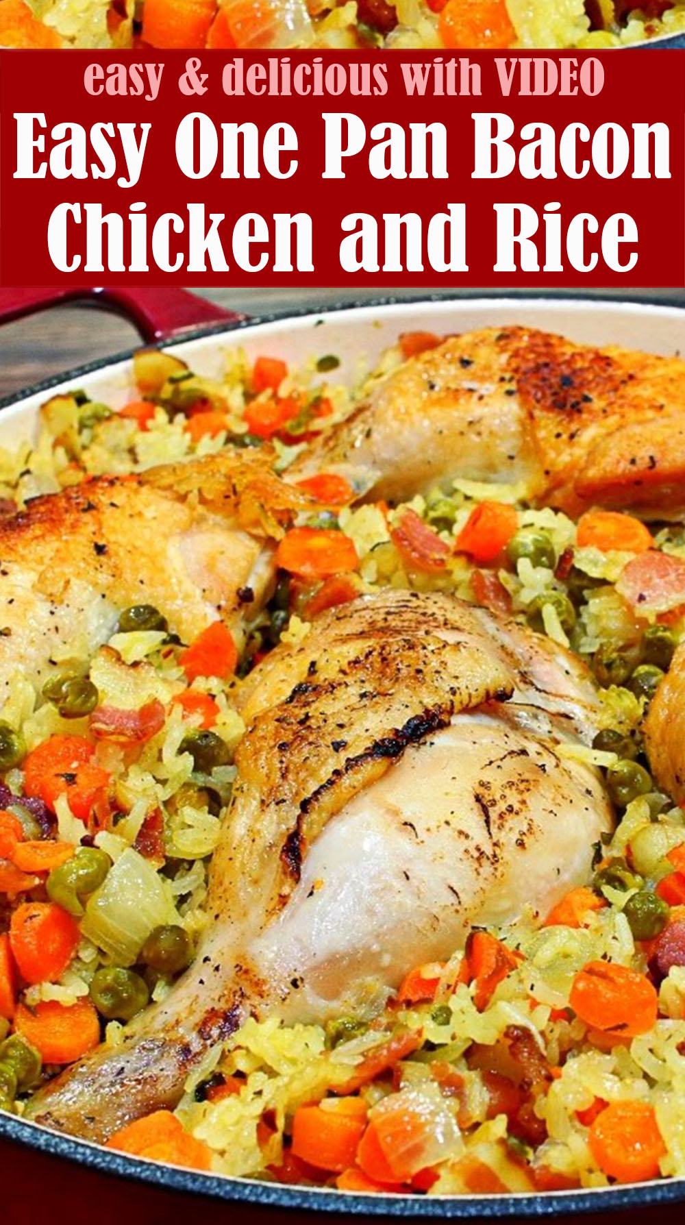 Easy One Pan Bacon Chicken and Rice