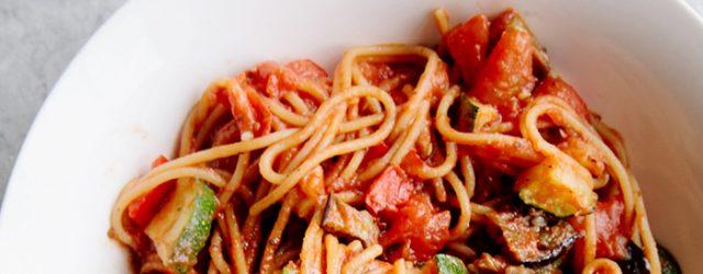 Easy One-Pot Ratatouille Spaghetti