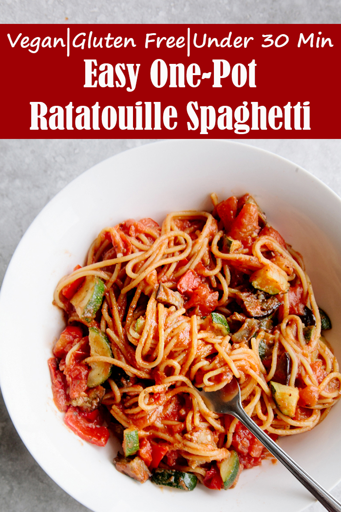 Easy One-Pot Ratatouille Spaghetti