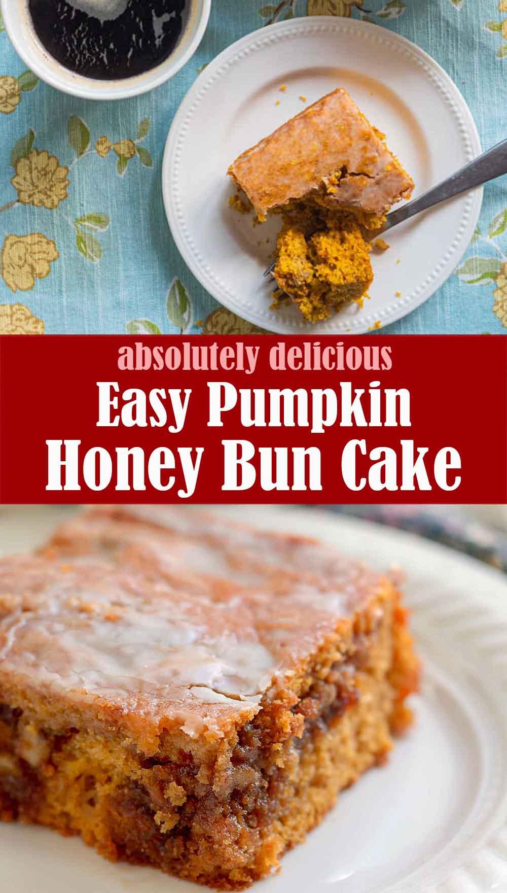 Easy Pumpkin Honey Bun Cake