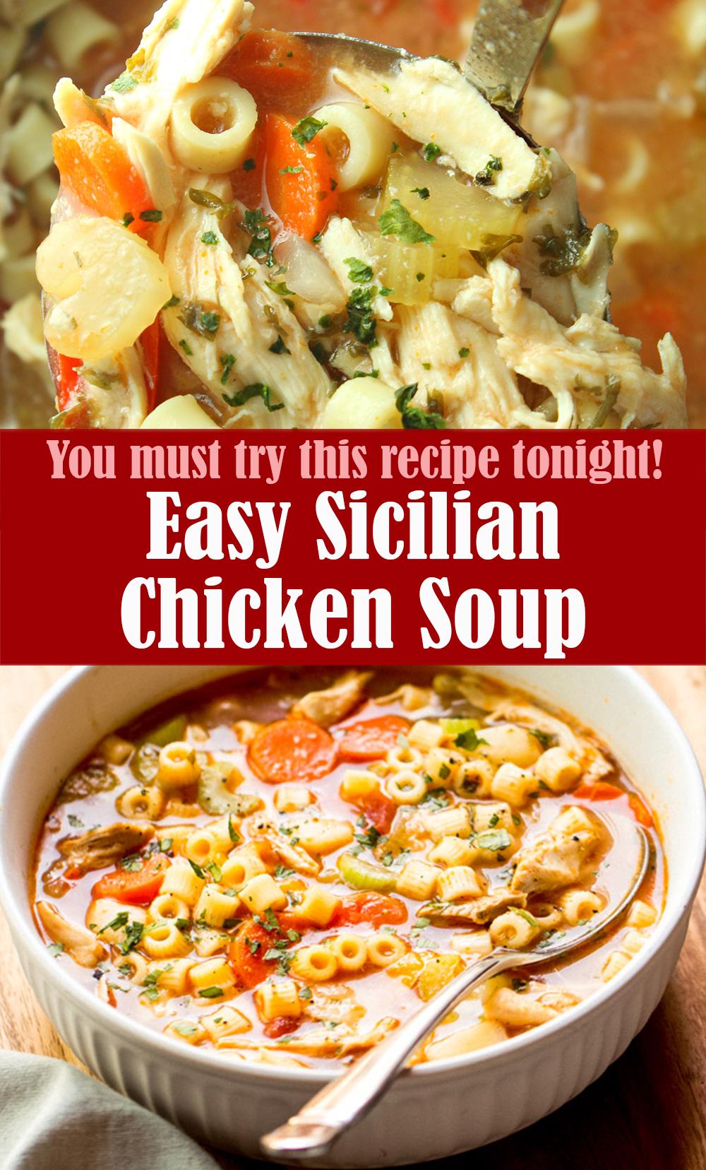 Easy Sicilian Chicken Soup