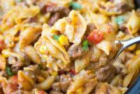 Easy Slow Cooker Taco Pasta Recipe 1