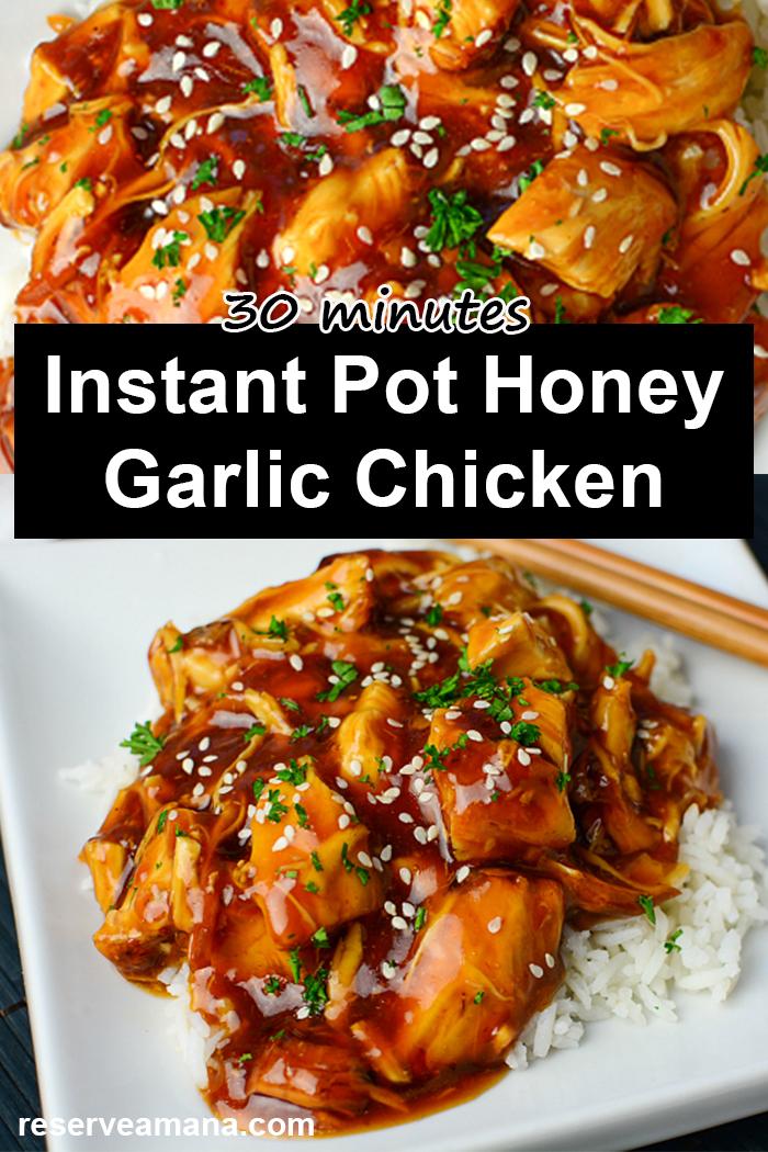 Instant Pot Honey Garlic Chicken