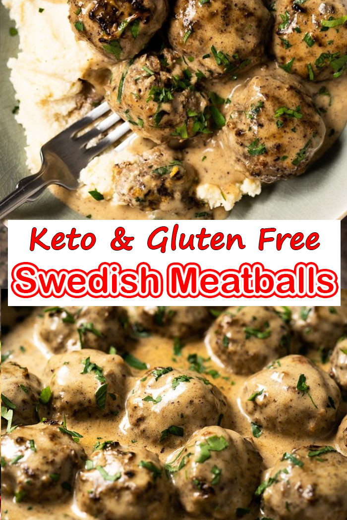 Keto and Gluten Free Swedish Meatballs