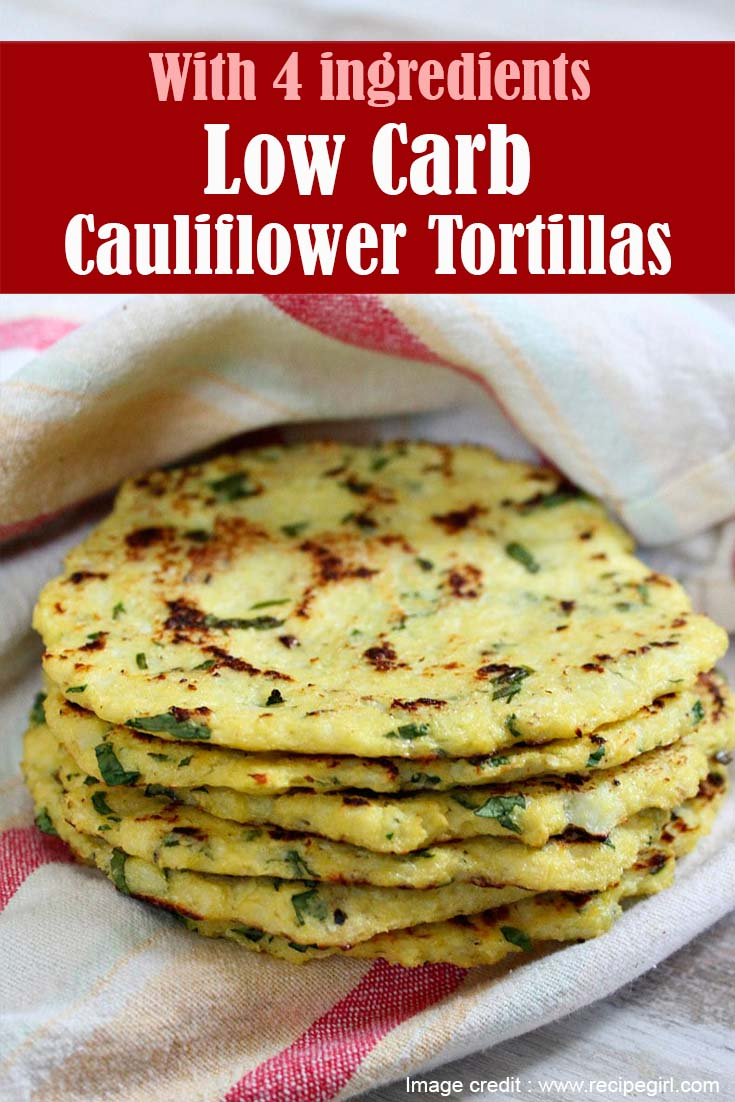 Low Carb Cauliflower Tortillas