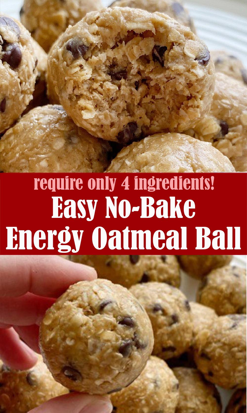 No-Bake Energy Oatmeal Ball