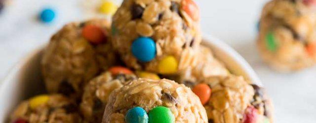 No Bake Peanut Butter Oatmeal Cookie Balls