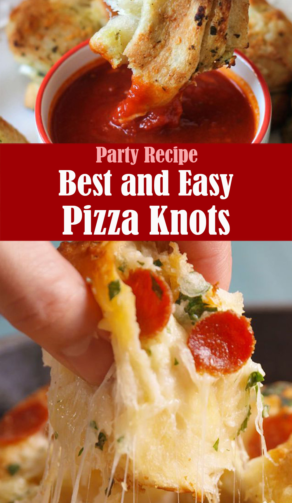 Pizza Garlic Knots Party Recipe