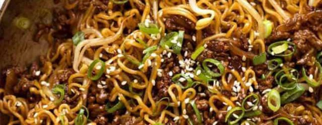 Quick Asian Beef Ramen Noodles Recipe