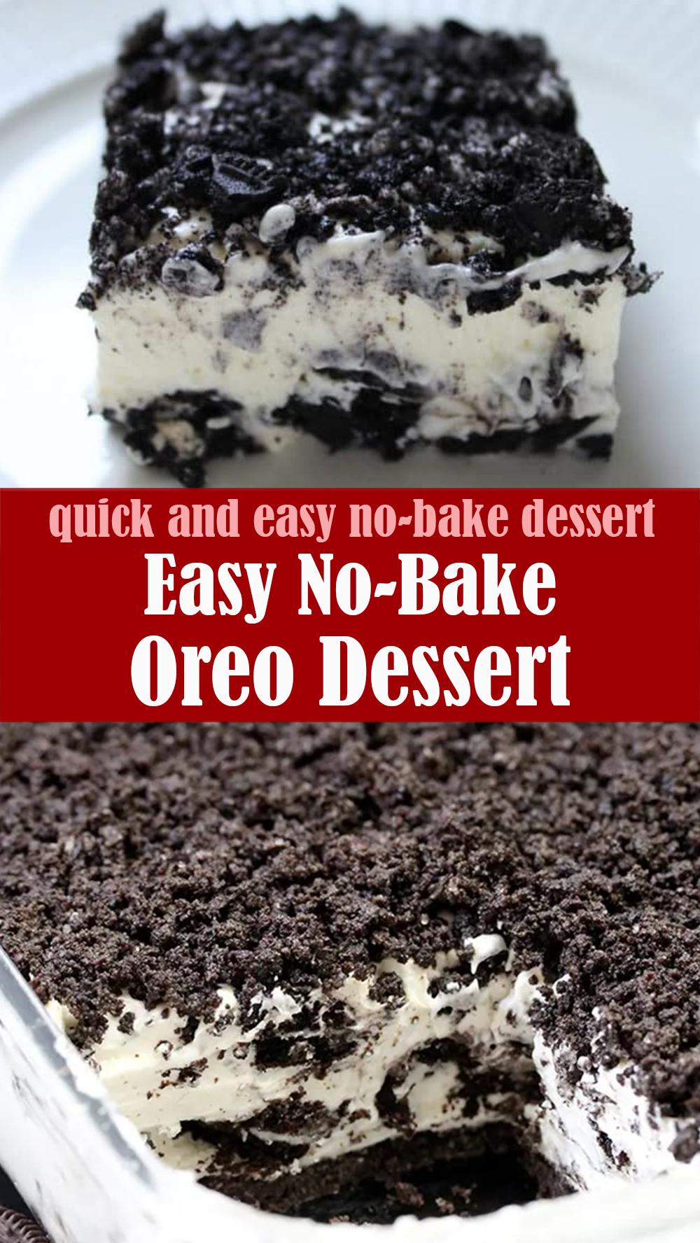 Quick & Easy No-Bake Oreo Dessert