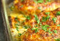 Quick & Easy Smothered Cheesy Sour Cream Chicken