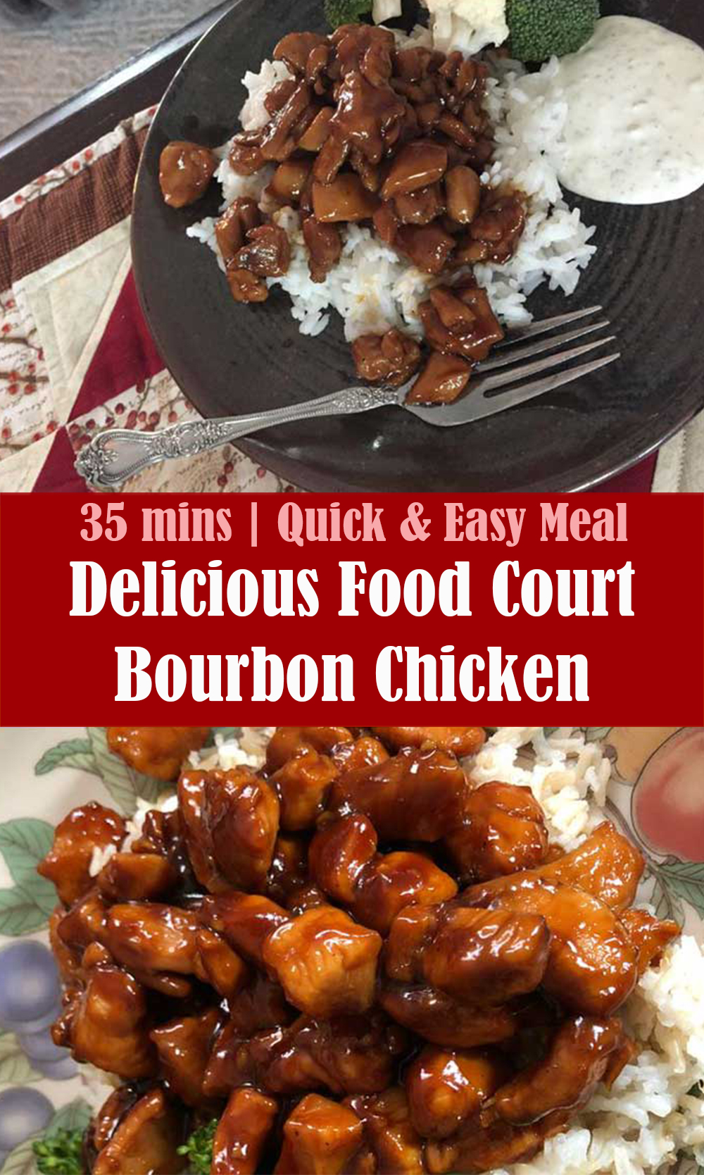 Quick and Easy Food Court Bourbon Chicken