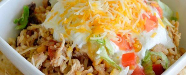 Instant Pot Shredded Chicken Burrito Bowls