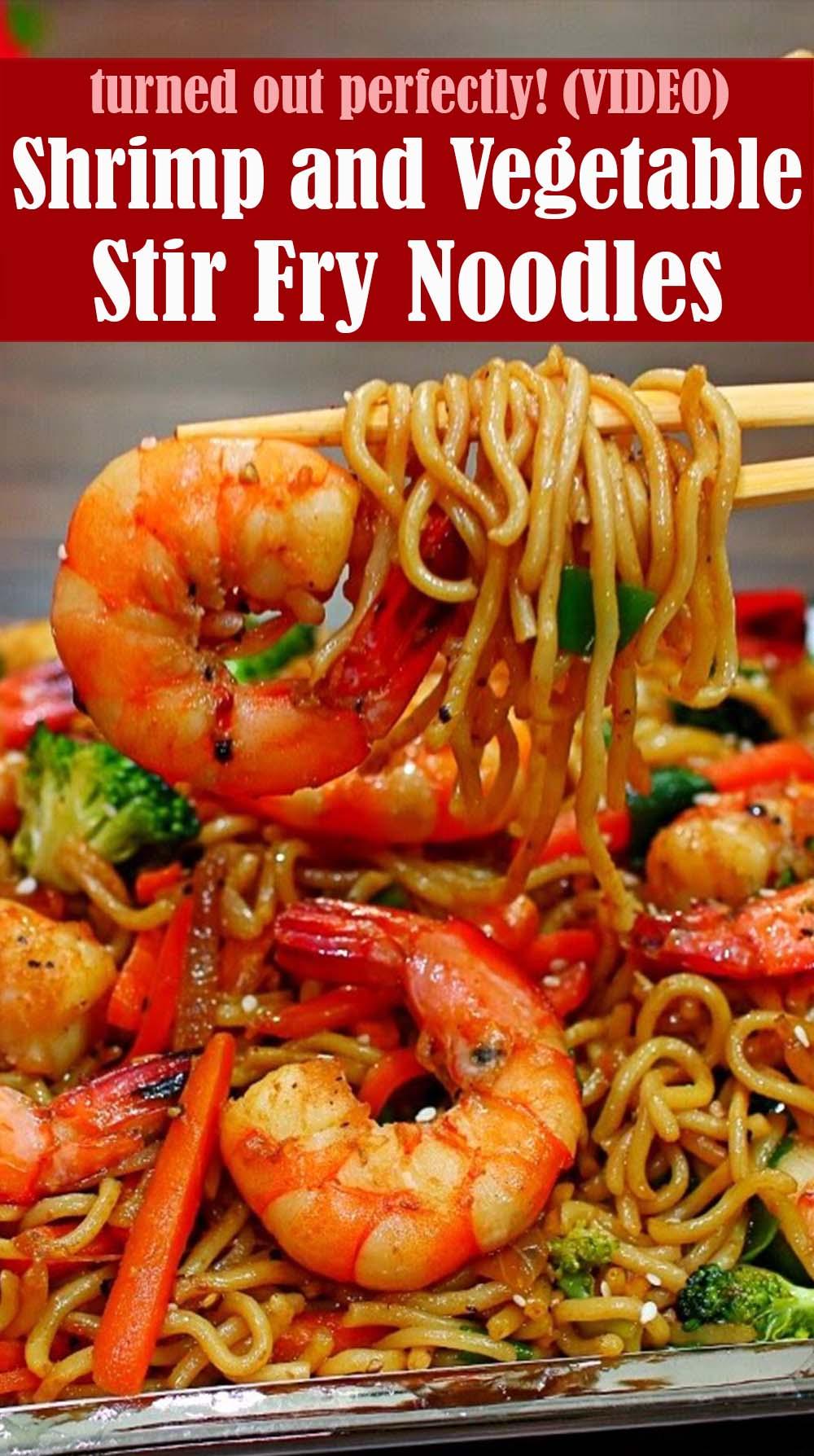 Shrimp and Vegetable Stir Fry Noodles Recipe