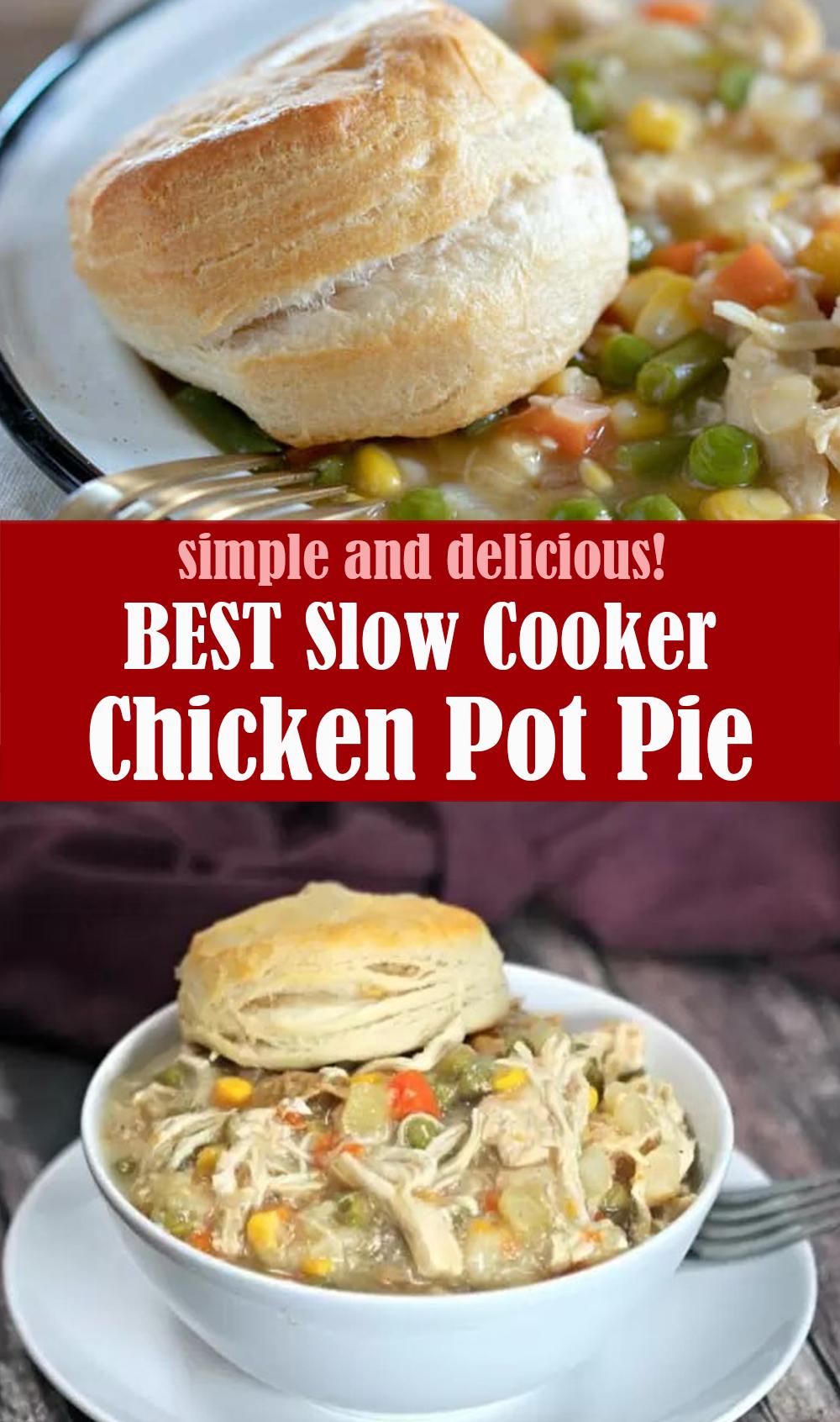 Slow Cooker Chicken Pot Pie Recipes