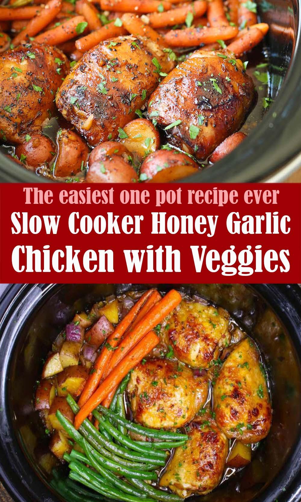 Slow Cooker Honey Garlic Chicken with Veggies Recipe