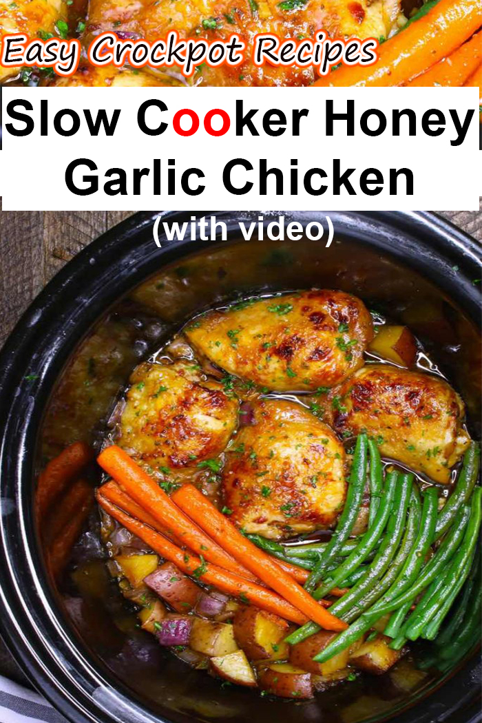 Slow Cooker Honey Garlic Chicken with Veggies