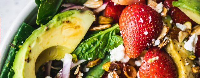 Summer Strawberry Spinach Salad with Avocado MAY
