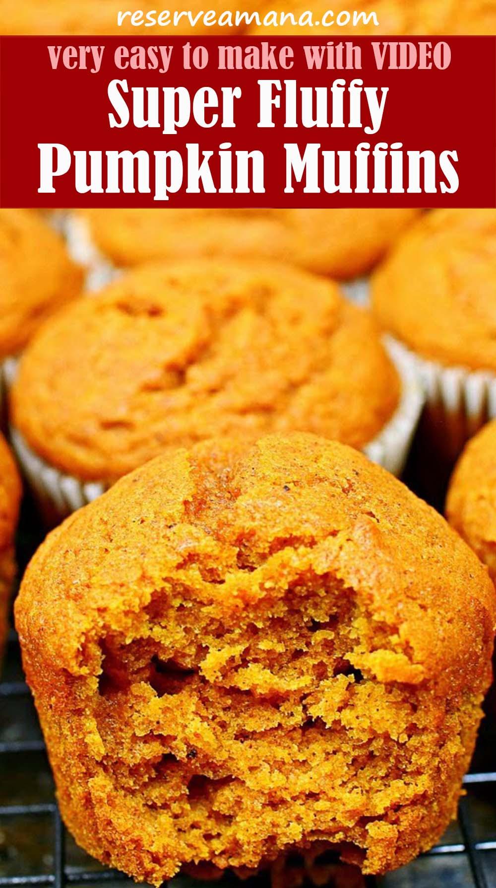 Super Fluffy Pumpkin Muffins Recipe